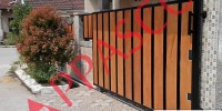 pagar motif kayu rumah minimalis
