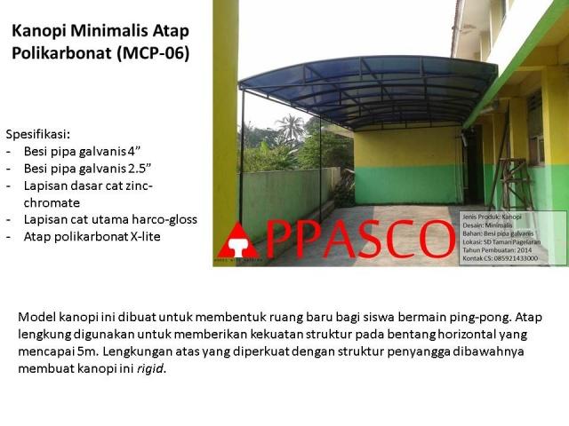 kanopi minimalis atap polycarbonat MCP06