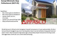 kanopi minimalis atap polycarbonat sederhana