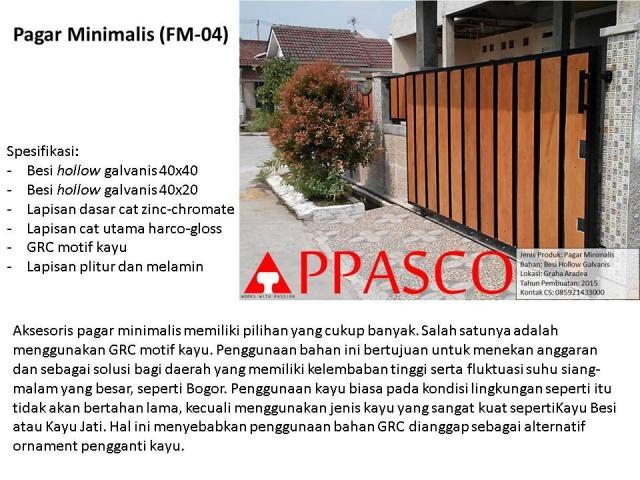 Pagar Minimalis GRC Kayu di Graha Aradea Bogor