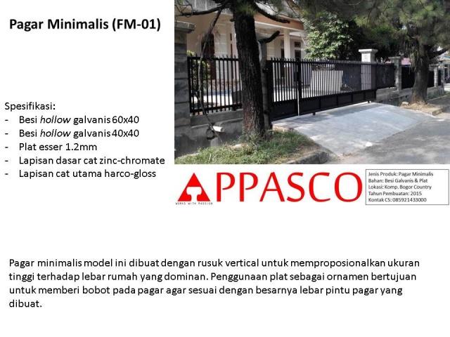 Pagar Minimalis Rusuk Vertikal di Bogor Country