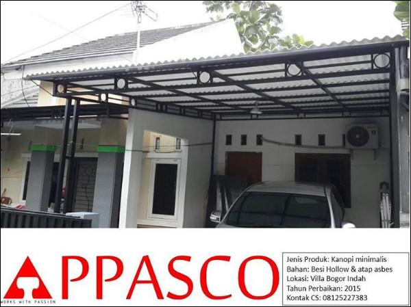 Kanopi Minimalis Atap Asbes Villa Bogor Indah