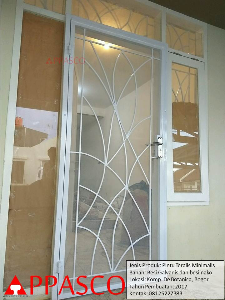 Pintu Teralis Besi Minimalis Cantik Anti Nyamuk Jual Kanopi Tralis
