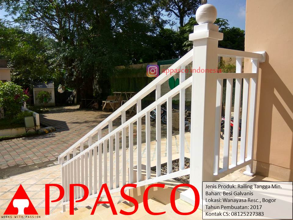 Railing Tangga Minimalis Wanayasa Residence Bogor