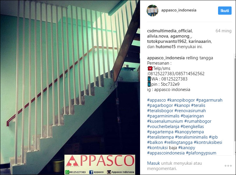desain cantik railing tangga minimalis modern
