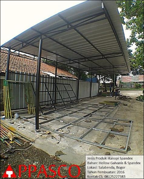 Kanopi Atap Spandex Untuk Carport di Salabenda Bogor