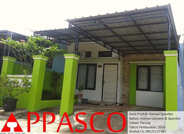 Kanopi Atap Spandex Minimalis di Parung Bogor