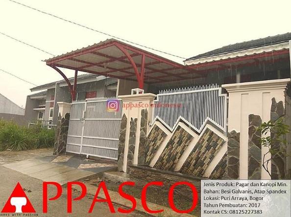 Kanopi Atap UPVC di Puri Arraya Bogor