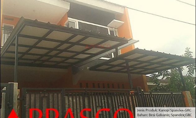 kanopi minimalis atap spandex GRC graha aradea bogor