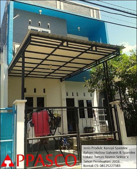 Kanopi Minimalis Atap Spandex Plafon GRC di Taman Yasmin
