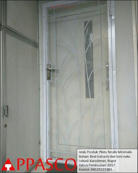 pintu besi teralis bogor minimalis