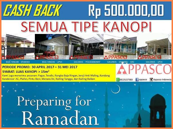 Promo Ramadhan Cashback Kanopi Semua Tipe