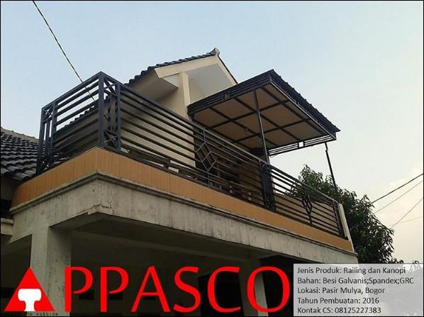 railing balkon minimalis bogor