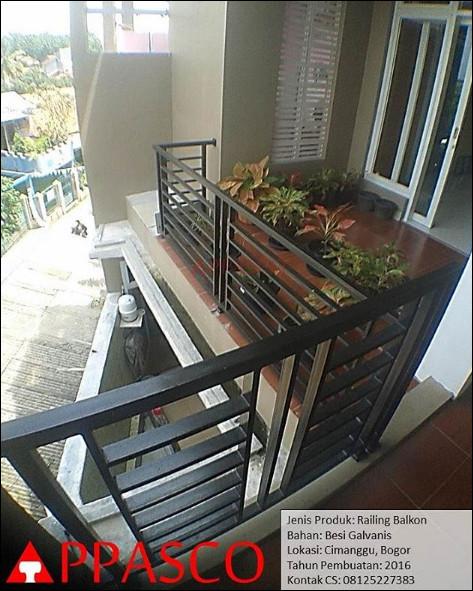 Railing Balkon Minimalis Cantik di Bogor