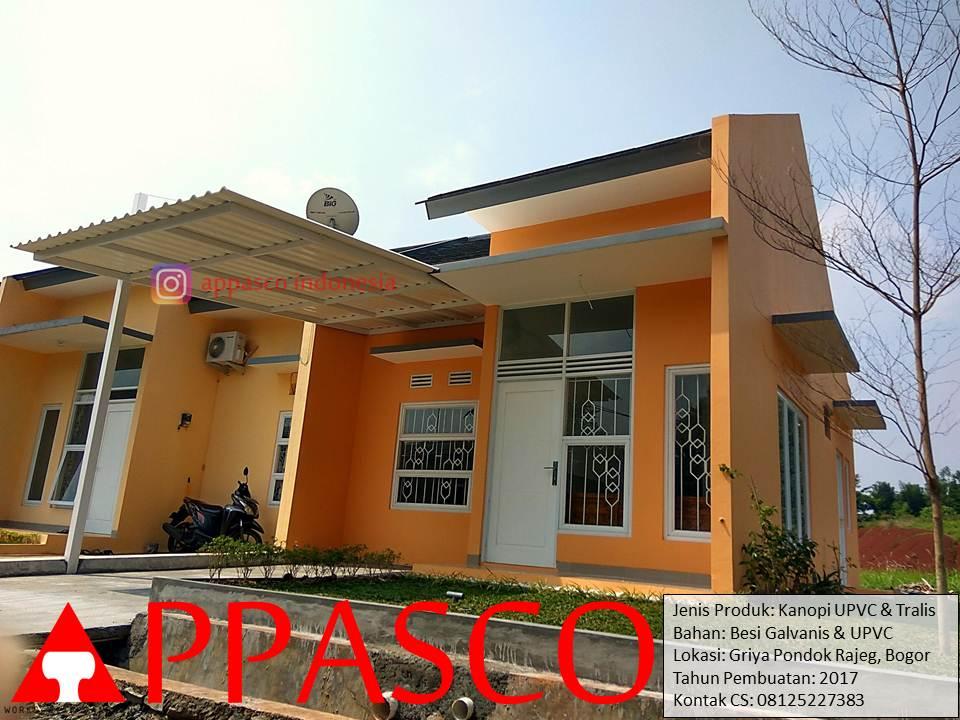 Kanopi Minimalis UPVC dan Teralis Minimalis di Griya Pondok Rajeg