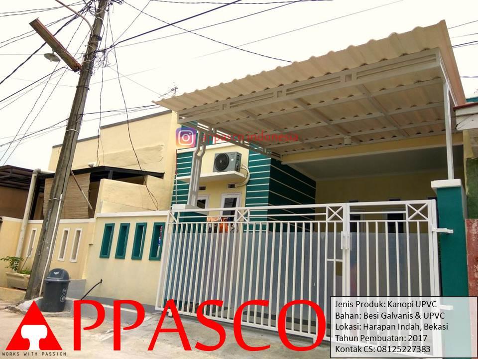 Kanopi UPVC Galvalum di Harapan Indah Bekasi
