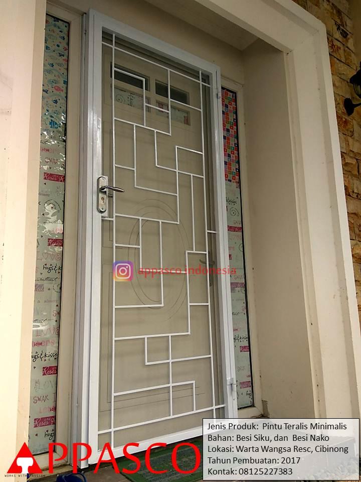 Pintu Teralis Minimalis di Waratawangsa Residence Cibinong