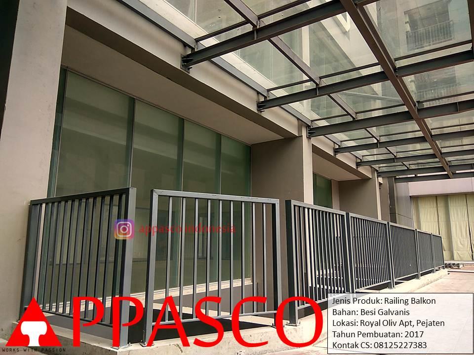 Railing Balkon Galvanis di Royal Oliv Apartemen Pejaten