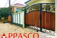 Pagar Klasik Besi Tempa Motif Kayu GRC di Bekasi