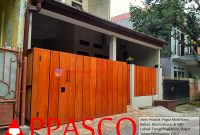 Pagar Minimalis Kayu GRC Besi Galvanis di Taman Pagelaran Bogor
