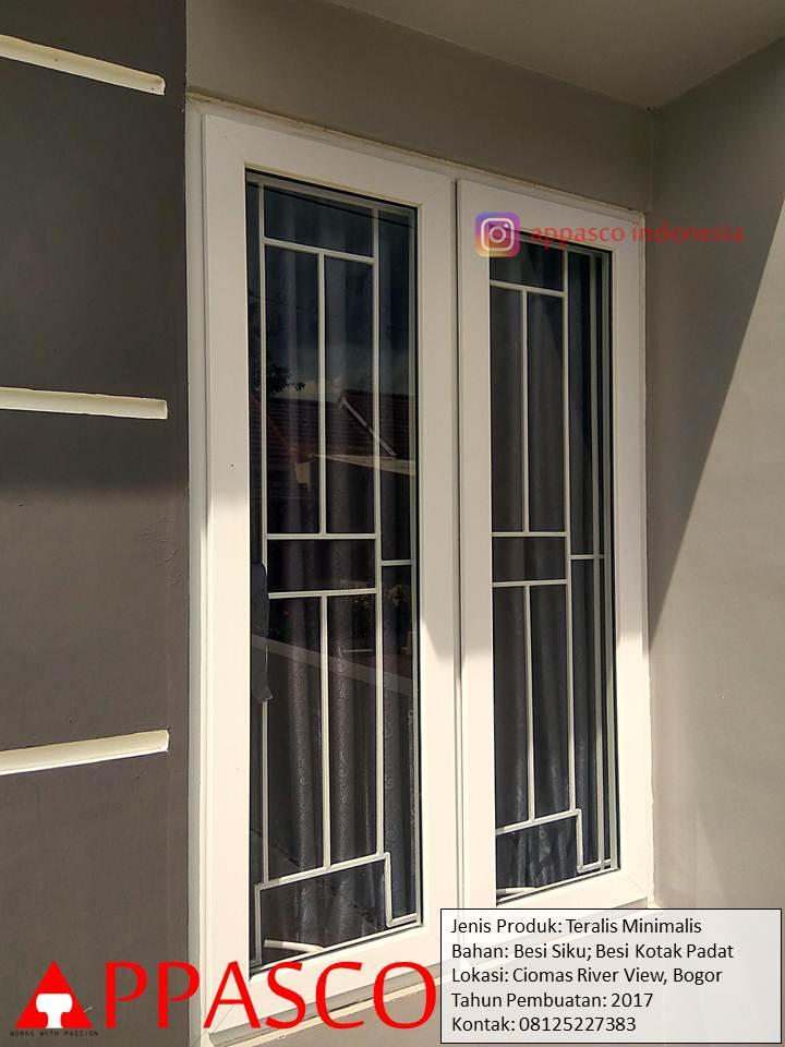 Teralis Jendela Minimalis Besi Kotak di Ciomas Bogor