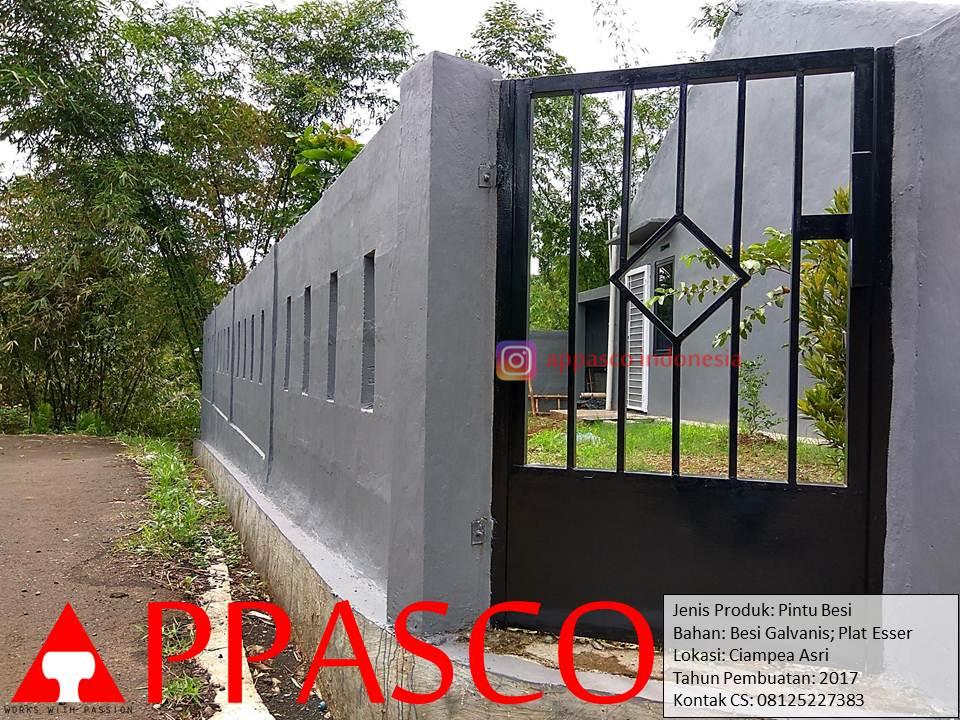 Pintu Besi Plat Esser Untuk Pagar Tembok di Ciampea Asri Bogor