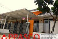 Kanopi Minimalis Atap Spandek Cantik Peredam GRC di Villa Bogor Indah