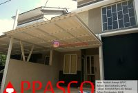 Kanopi Minimalis Atap UPVC Modern Simpel di Komplek Batu Air Bekasi