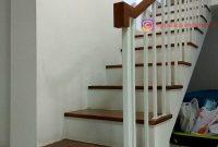 Railing Tangga Minimalis Modern Besi Galvanis di Villa Bogor Indah