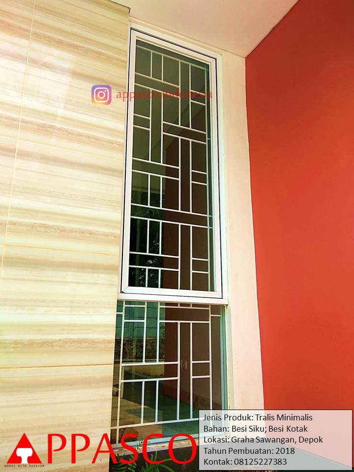 Teralis Jendela Simpel Minimalis Kotak-kotak di Graha Sawangan Depok