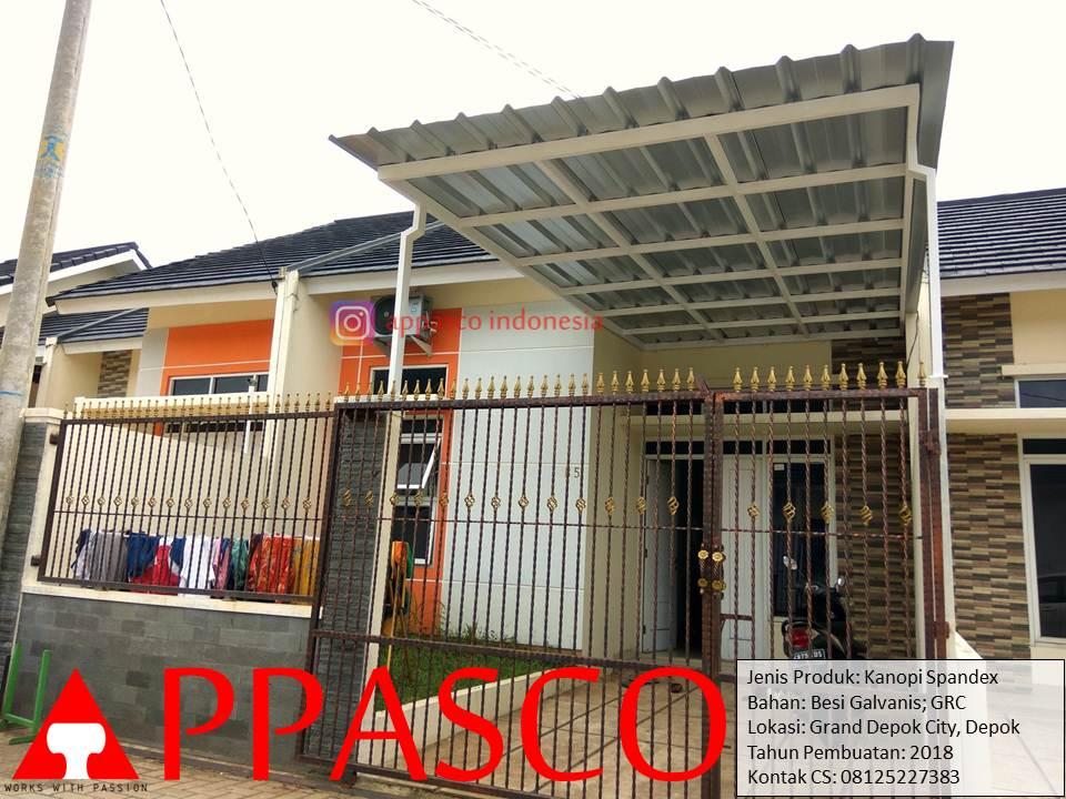 Kanopi Spandek GRC Minimalis di Grand Depok City