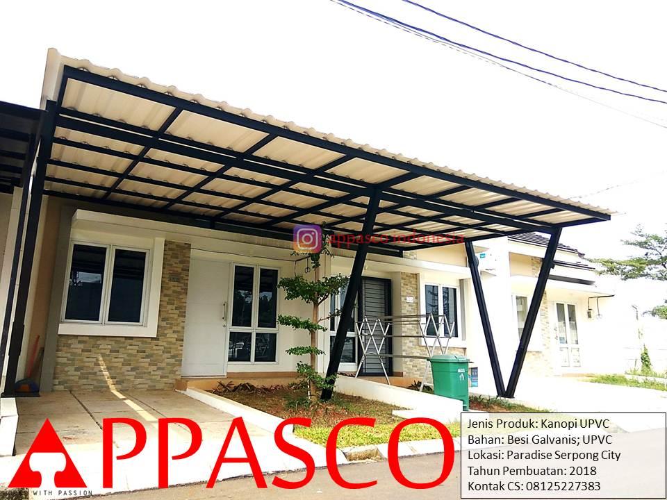 Kanopi Galvanis Atap UPVC Keren di Paradise Serpong