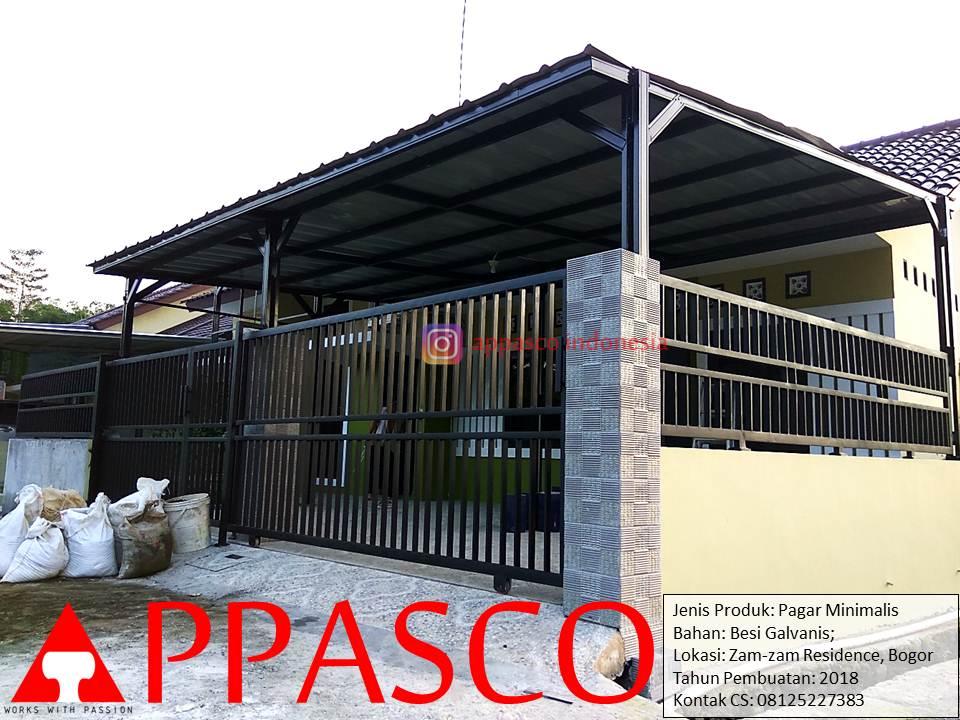 Pagar Minimalis Model Minimalis Cantik Modern di Zam-zam Residence Bogor