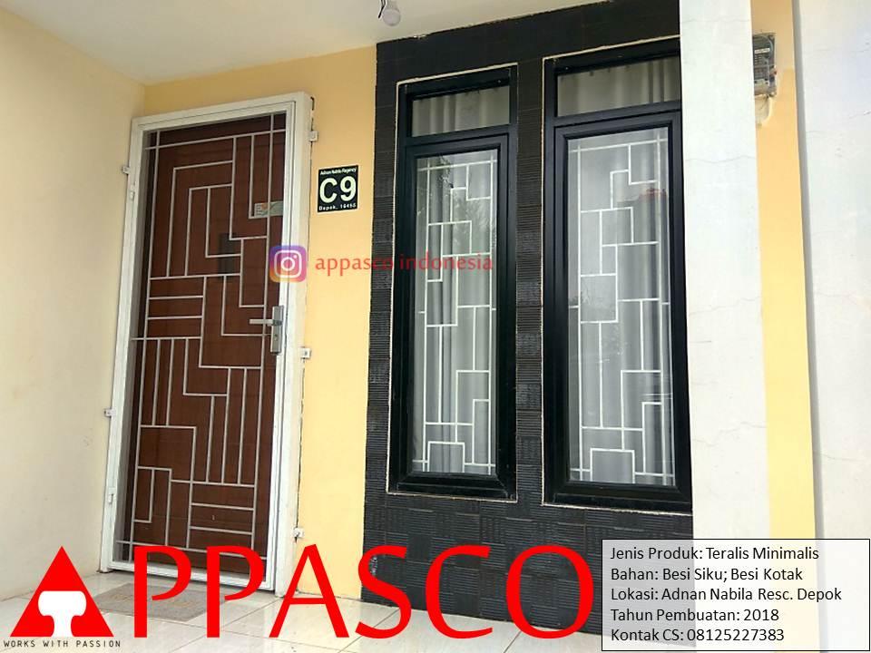 Teralis Minimalis Jendela dan Pintu di Adnan Nabilla Residence Depok