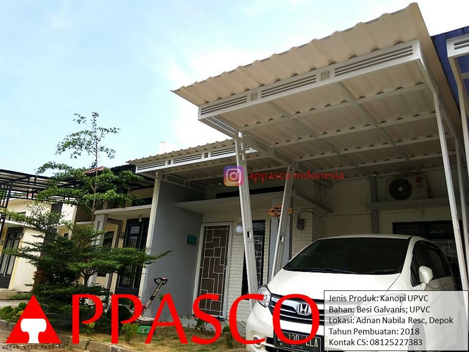 Kanopi UPVC Minimalis di Adnan Residence Depok