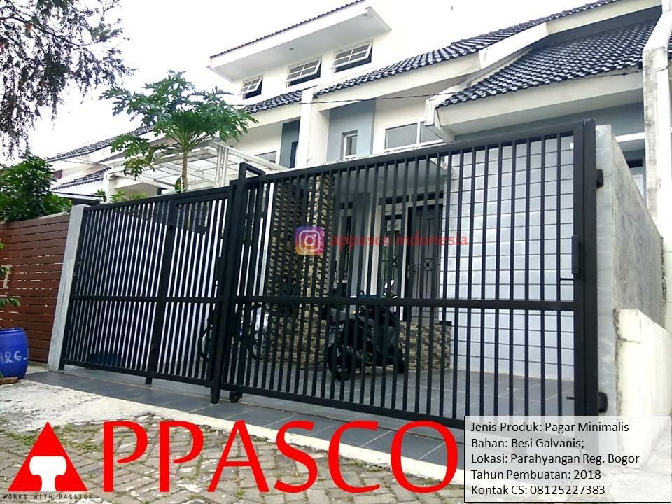 Pagar Minimalis Modern Besi Galvanis di Parahyangan Regency Bogor
