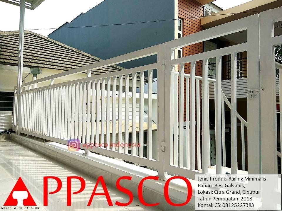 Railing Minimalis Balkon Modern Teras Atas Rumah di Cibubur